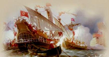 Козаки атакують турецький корабель